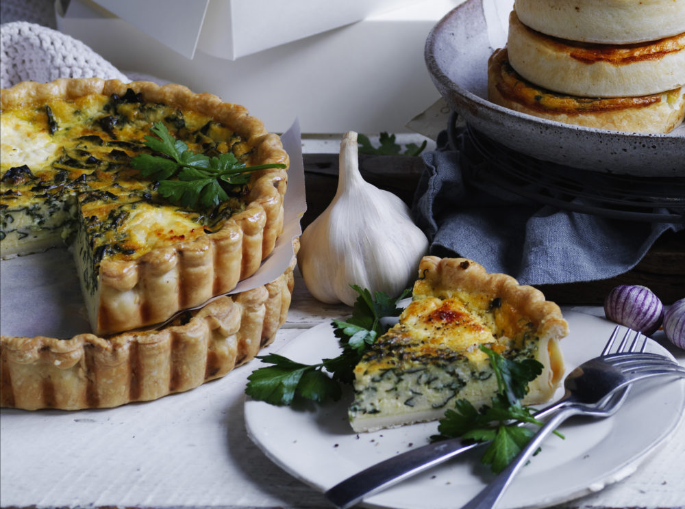 Spinach Quiche Cut